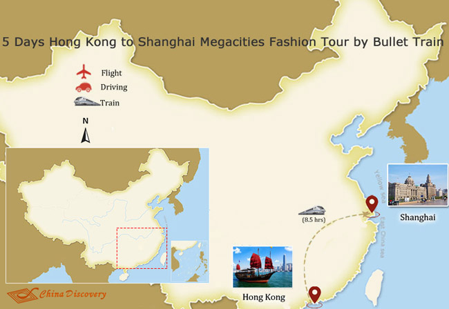 5 Days Hong Kong Shanghai Megacities Fashion Tour by Bullet Train