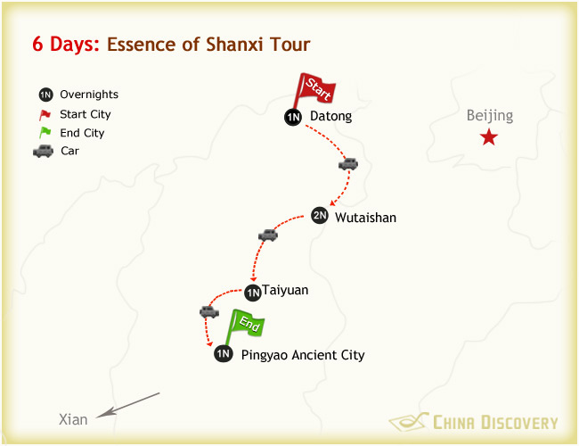 6 Days Essence of Shanxi Tour