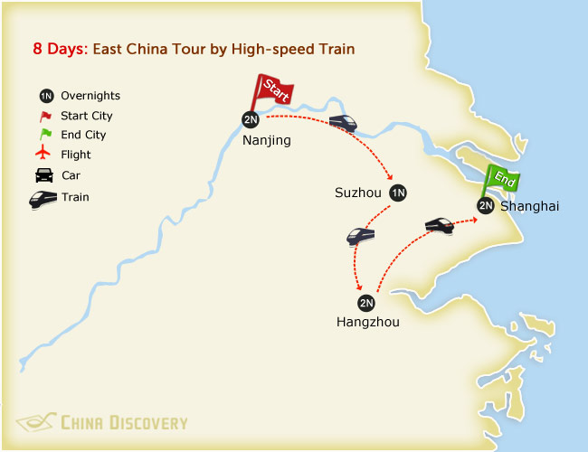 8 Days East China Tour by High-speed Train