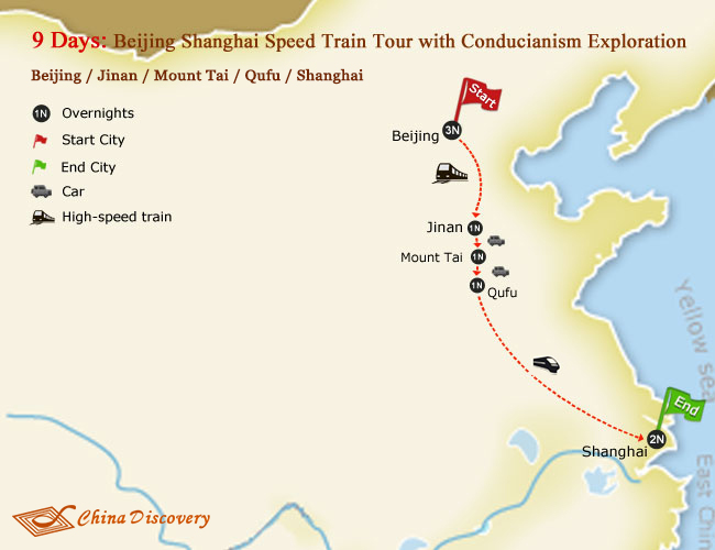 9 Days Beijing Shanghai Speed Train Tour with Conducianism Exploration