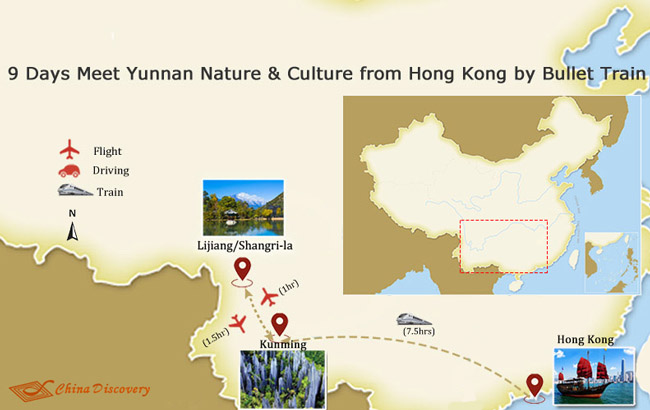 9 Days Meet Yunnan Nature & Culture from Hong Kong by Bullet Train