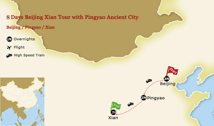 7 Days Beijing Xian Tour with Pingyao Ancient City