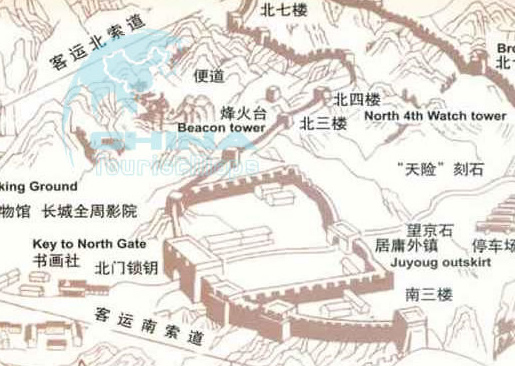 Badaling Great Wall Tourist Map