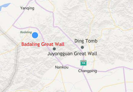 Badaling Great Wall Location Map