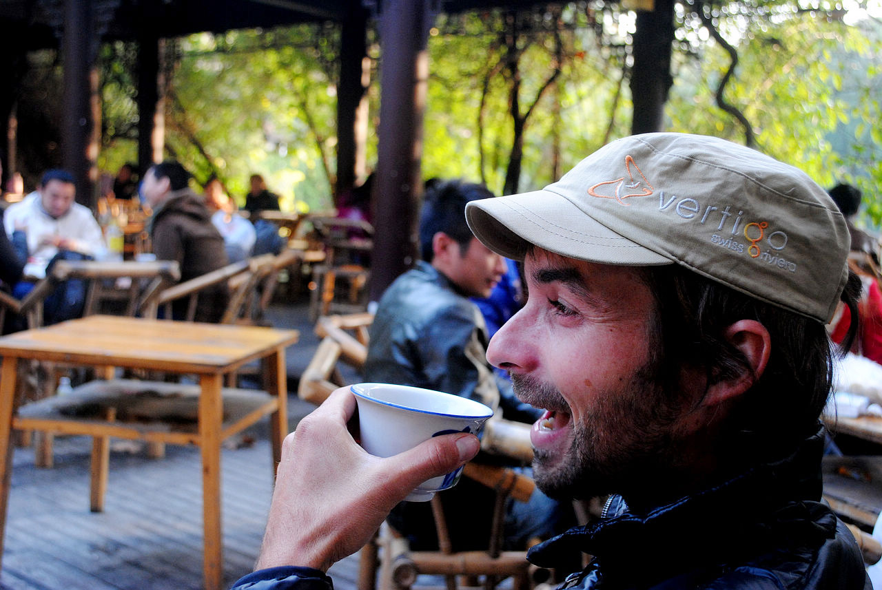 Drinking Tea in Heming Tea House, Chengdu People's Park
