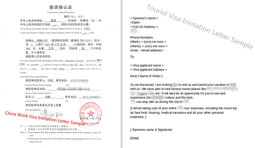 Invitation Letter For China Visa Samples Guide 2019 2020