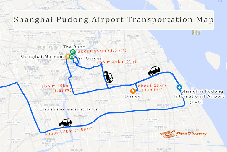 Shanghai Pudong Airport Transportation Map