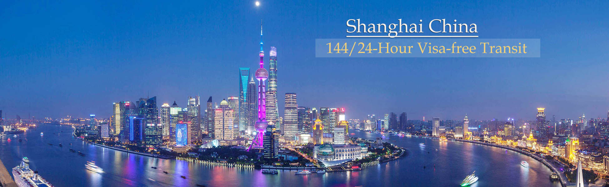 Shanghai 24/144 Hour Visa Free Transit and Tour