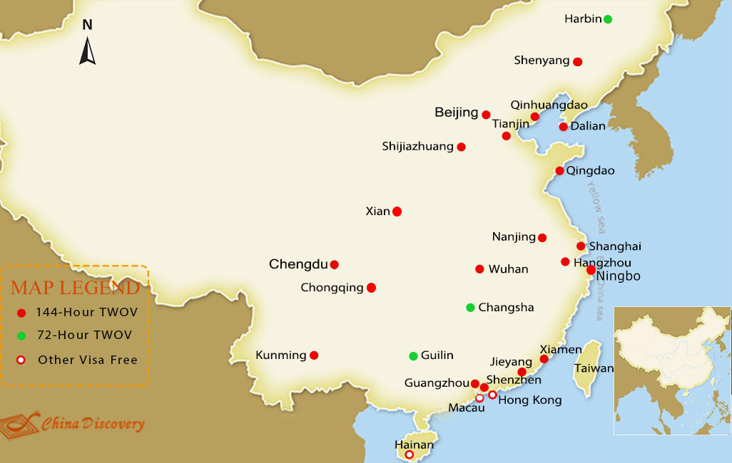 China Visa Free Cities and Regions | Visa Free Destinations ...