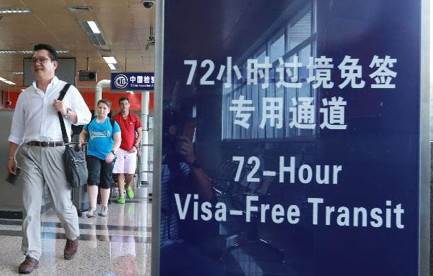 China 72 Hour Visa Free Transit