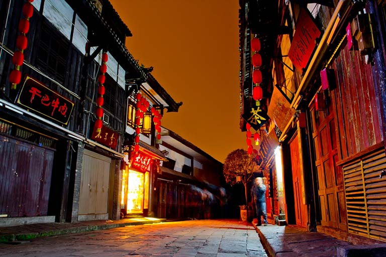 Night View of Ciqikou Ancient Town