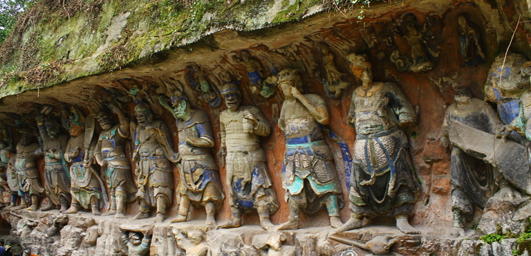 Dazu rock carvings chongqing caves