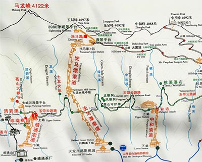 Dali Cangshan Mountain Map