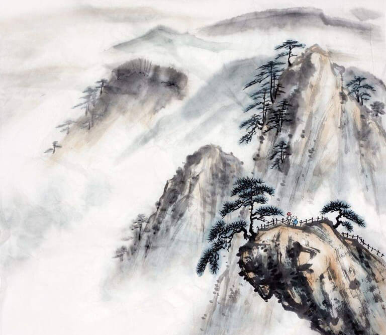 Chinese Ink Painting of Yellow Mountain