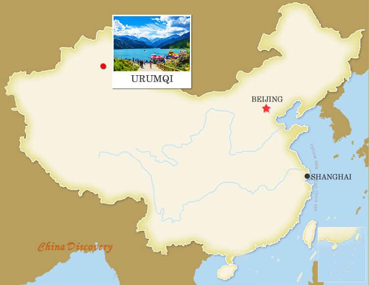 Urumqi China Map