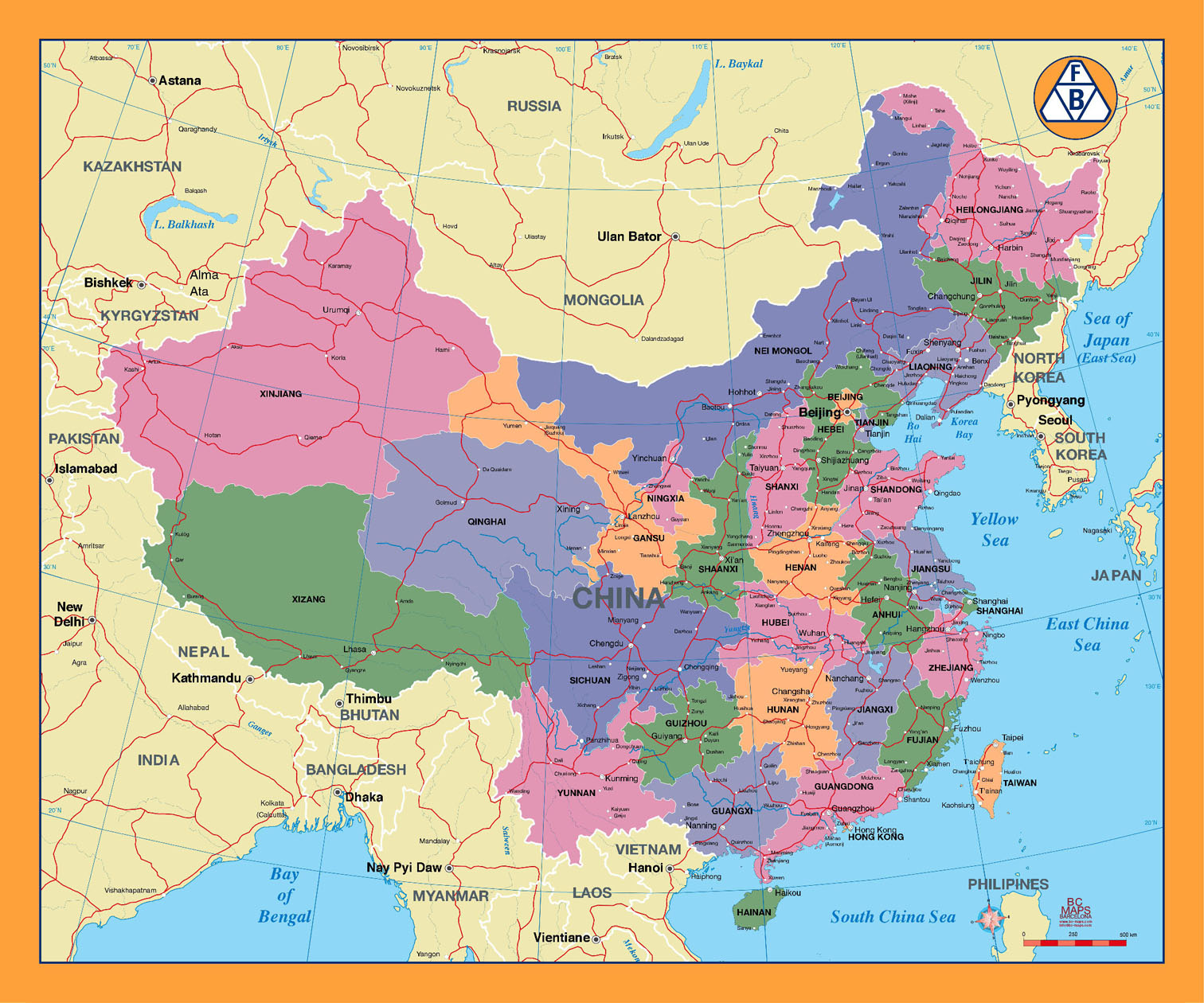 China City Maps Maps Of Major Cities In China - Cities map of china