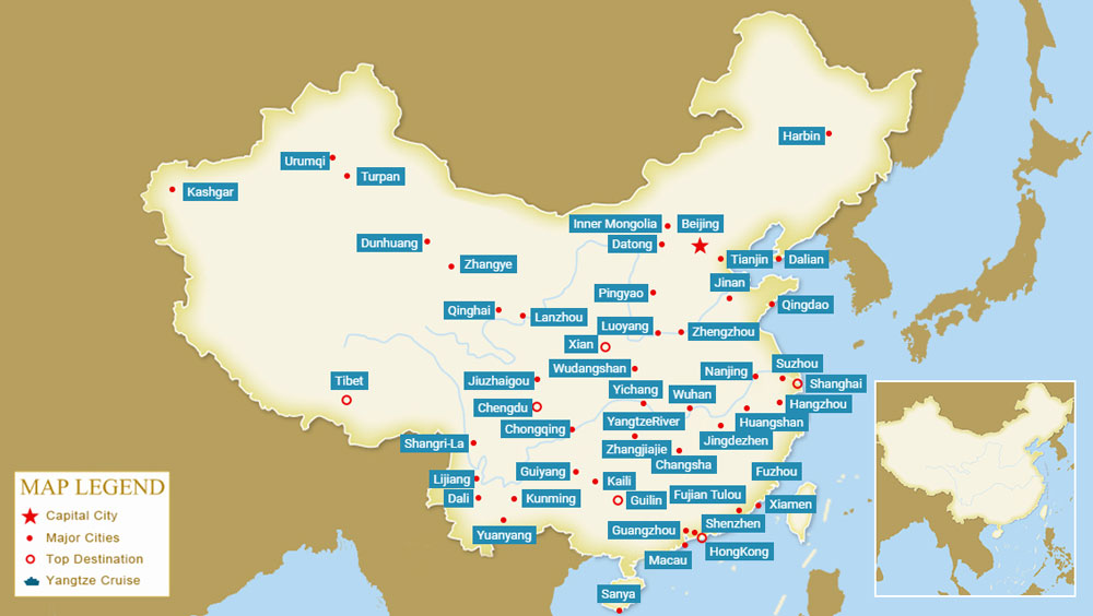 2019 China City Maps, Maps of Major Cities in China