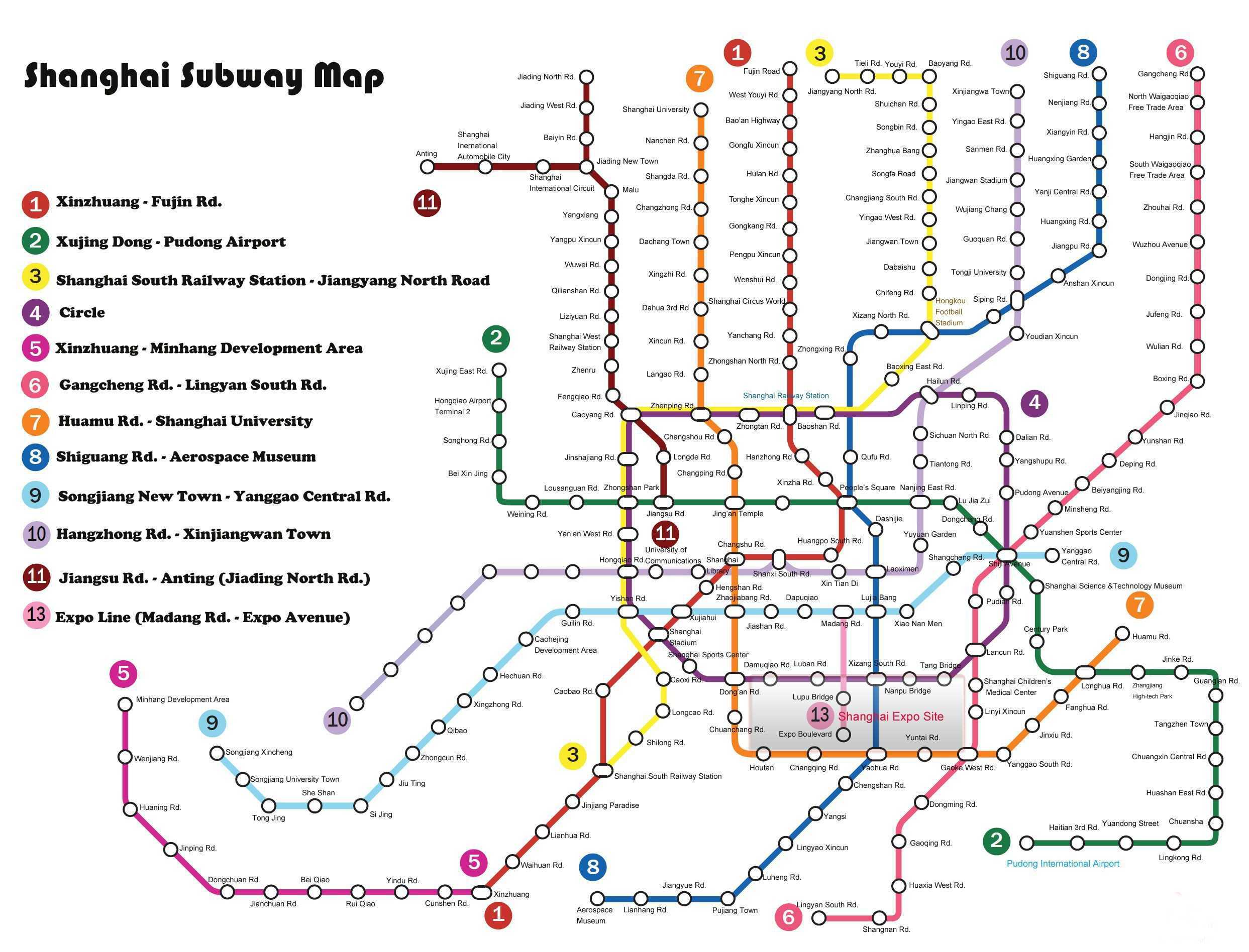 Map Of Shanghai Subway