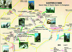 China Attraction Map
