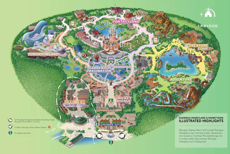 Shanghai Disney Resort Map