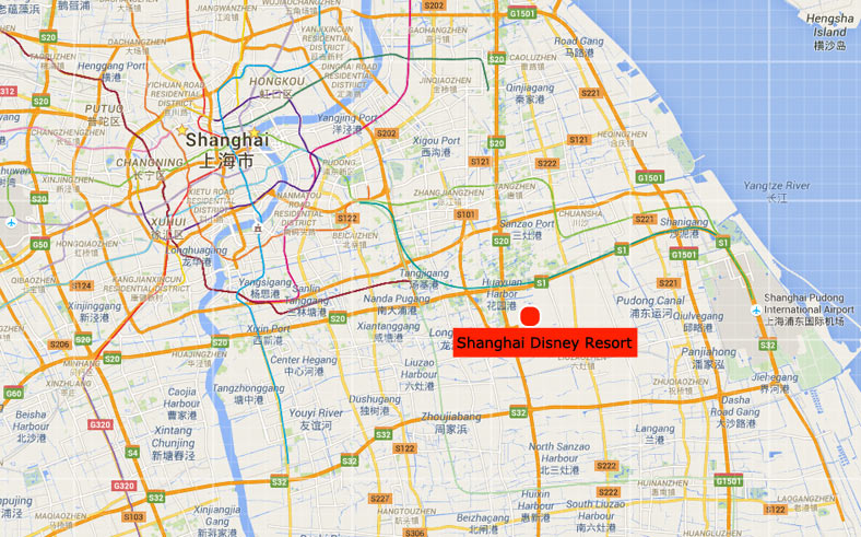 Shanghai disney resort shanghai disneyland park location map shanghai disney resort location map publicscrutiny Images
