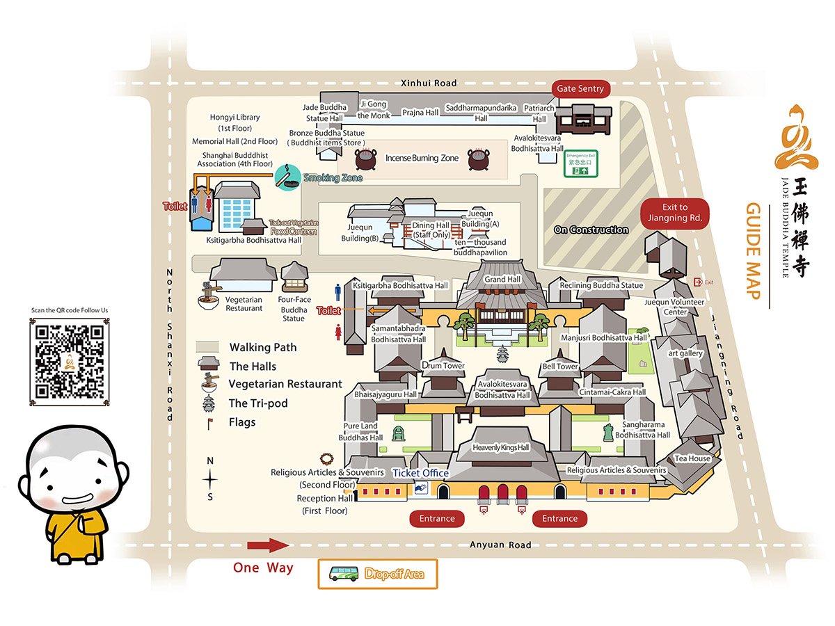 Jade Buddha Temple Shanghai Map