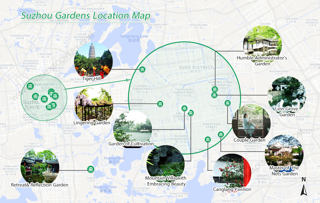 Classical Gardens of Suzhou Map