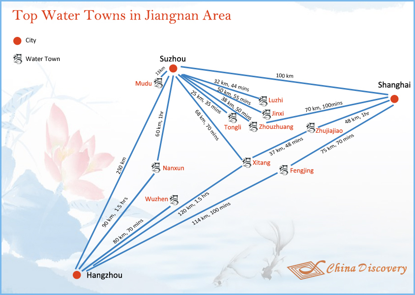 China Water Town Map