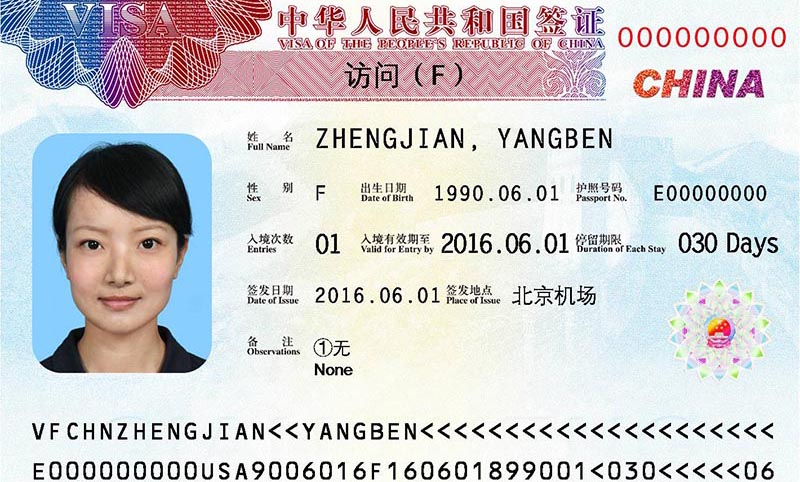 F Category Visa Chinese Visa Types, Ch...