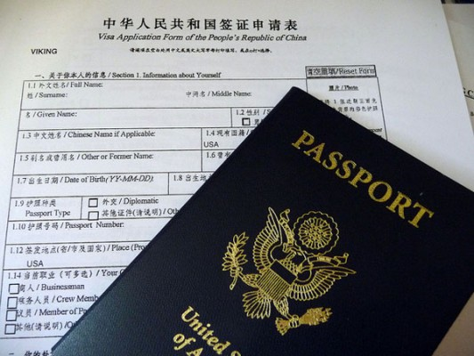 Chinese Visa apply documents