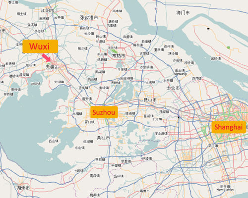 Wuxi Location Map