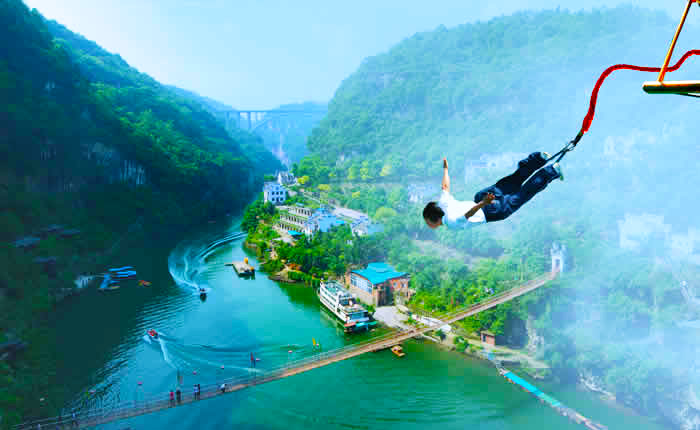Three Gorges Bungee Jumping