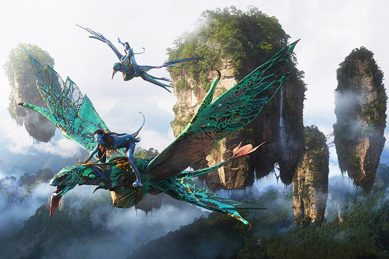 Flating Halelujah Mountain in Avatar - Filmed at Yuanjiajie