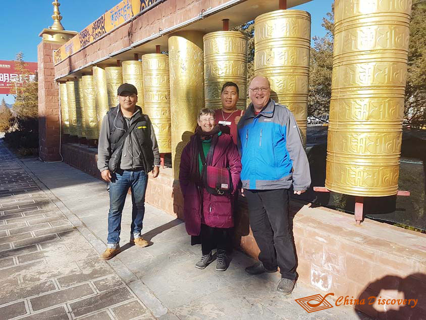 The Large Prayer Wheel at Guishan Hill in Shangri-La, Photo Shared by David, Tour Customized by Wendy