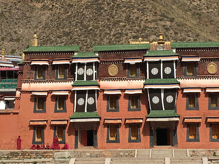 Monks Sit in Front of Labrang Monastery, Photo Shared by Monica, Tour Customized by Leo