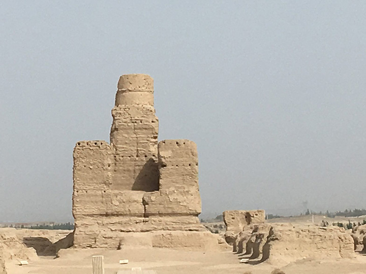 Remains of a Buddhist Stupa in Jiaohe, Photo Shared by Monica, Tour Customized by Leo