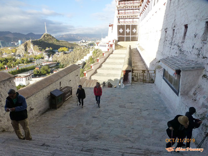 Lots of Steps to Reach Sumtseling Monastery, Photo Shared by Steve, Tour Customized by Leo