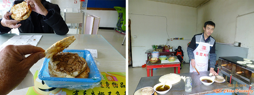 Tibetan Hamburger We Ate Near Yamdrok Lake, Photo Shared by Steve, Tour Customized by Leo