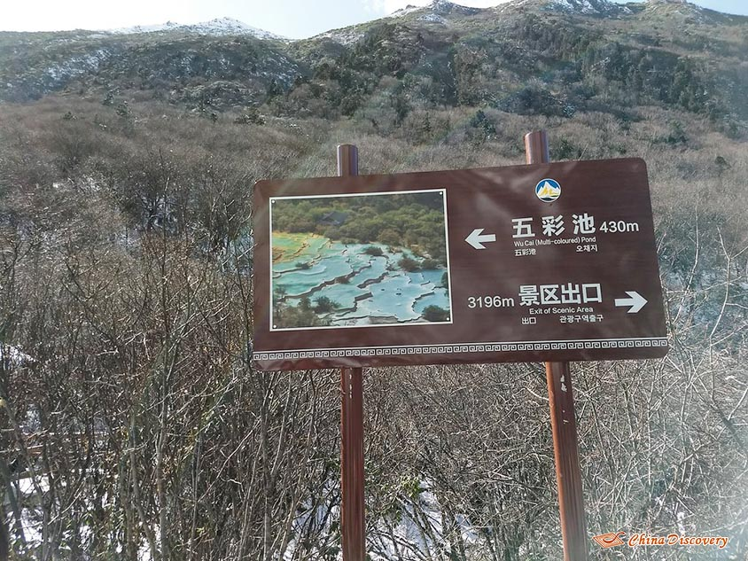 Roadpost at 3196m Above Sea Level Pointing to Five-color Ponds, Photo Shared by Steve, Tour Customized by Leo