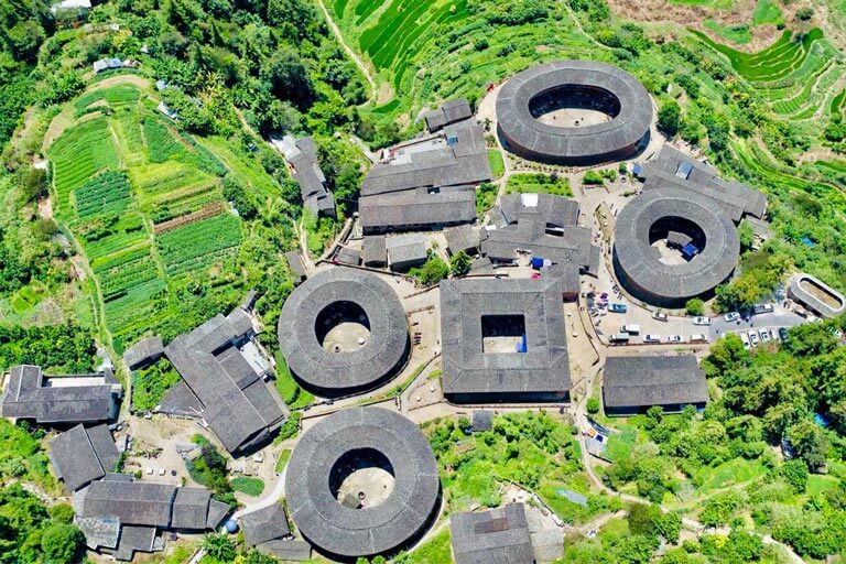 Tianluokeng Tulou Cluster in Summer