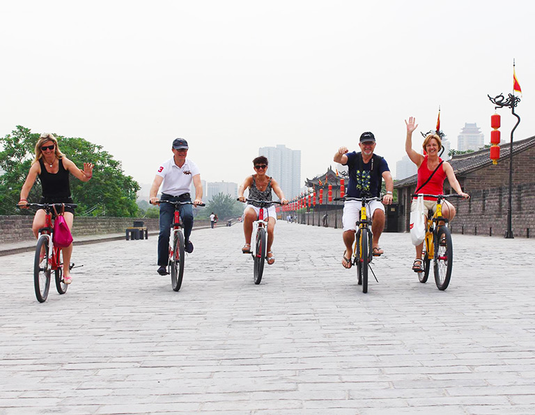 Biking Xian Ancient City Wall