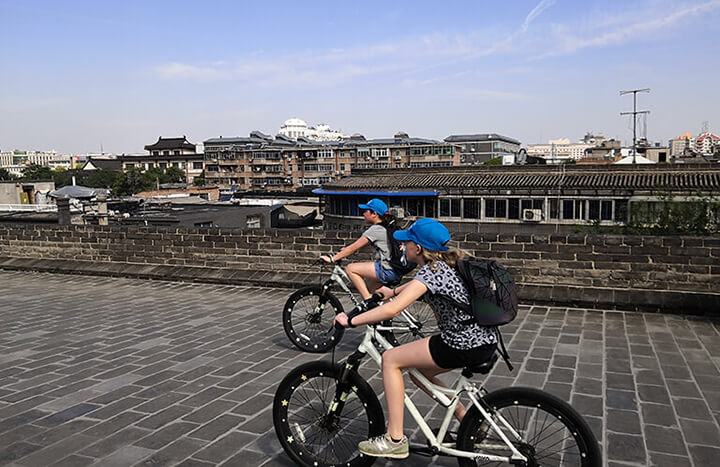 Bike on Ancient City Wall