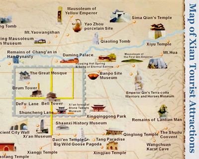 Xian attraction map