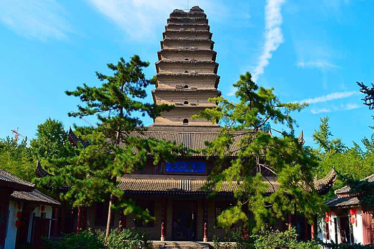 Small Wild Goose Pagoda in June