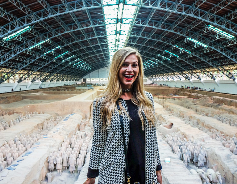 Tourist Visited Terracotta Warriors