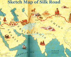 Sketch Map of Silk Road
