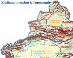 Location and Topography Map
