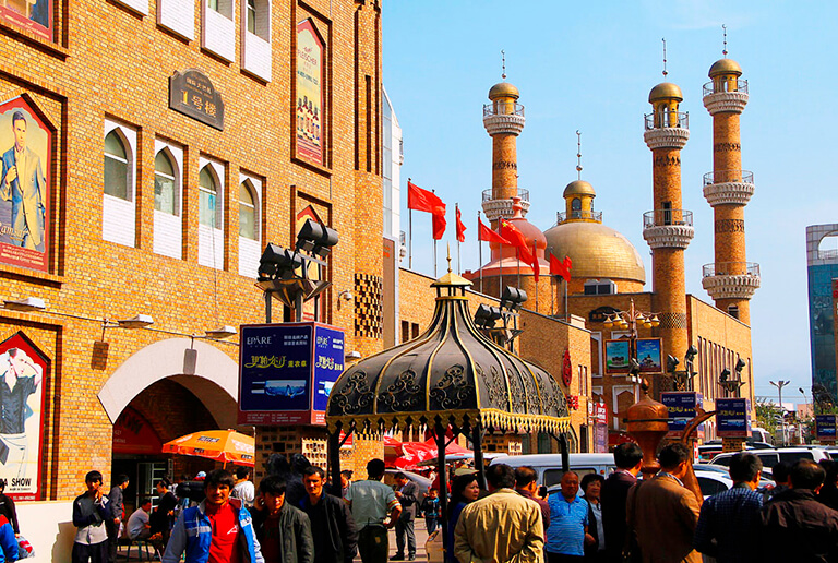 Xinjiang International Grand Bazaar in Urumqi
