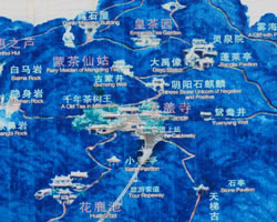 Mount Mengding Scenic Map