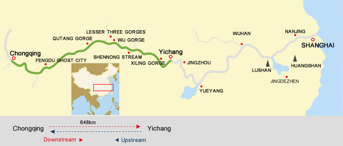 Yichang Chongqing Cruise Route